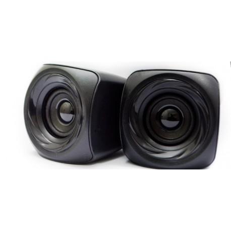 Black Copper Multimedia USB Speaker Crystal A4